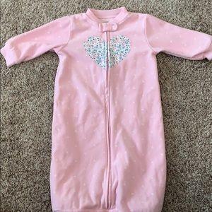 Pink polka dot sleep sack! 0-9
